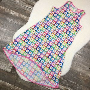 IVY LANE Rainbow Retro Daisy Grid Dress